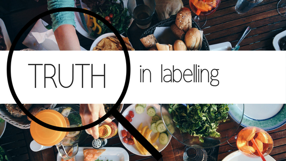 Truth in labelling blog